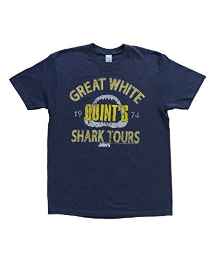 Quint's Great White Shark Tours Adult Pacific Blue T-Shirt - S, L