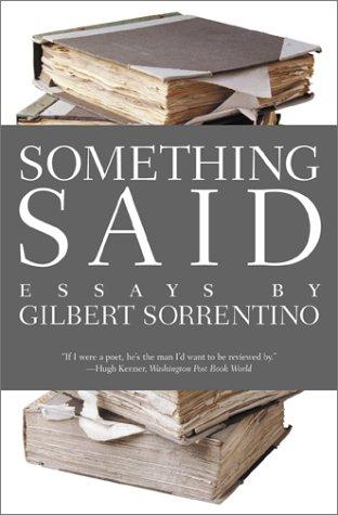 Something Said (American Literature Series)