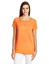 French connection Women's Body Blouse Top (76DGN_Nasturium_8)