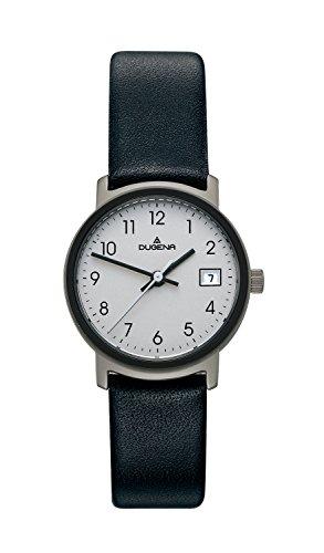 Dugena Classic 4298403 - Reloj de mujer de cuarzo, correa de piel color negro