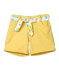 Beebay Yellow Twill Shorts (G1415128303614_Yellow_8Y)