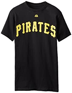 MLB Pittsburgh Pirates Roberto Clemente Cooperstown Collection Black Basic T-Shirt,... by Majestic