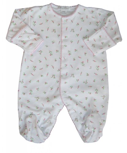 Kissy Kissy Baby Girls Garden Roses Print Footie- 3-6 Months front-1042735