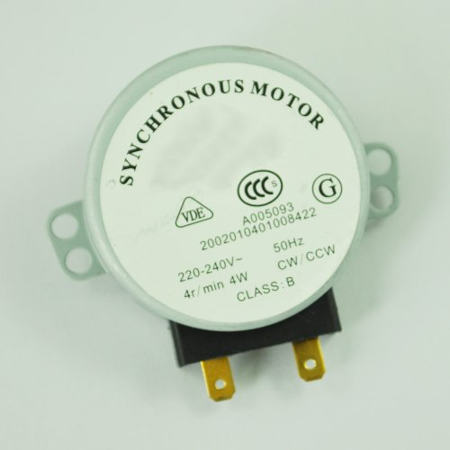 Toogoo(R) Microwave Oven Turntable Synchronous Motor 4W Ac 220-240V 4 Rpm Cw/Ccw
