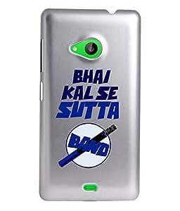 KolorEdge Back Cover For Microsoft Lumia 535 - Silver (2313-Ke15138Lumia535Silver3D)