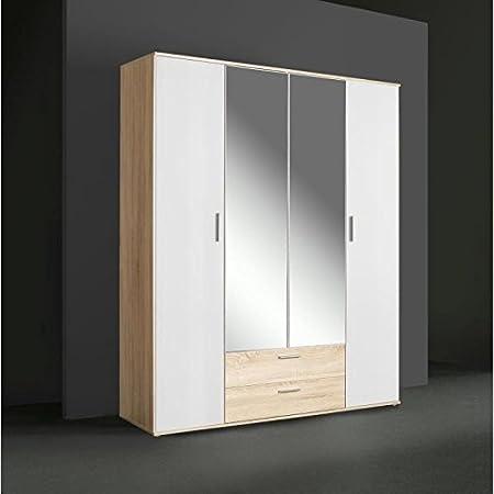 FINLANDEK SELKEÄ Armoire 160 cm blanc/chene