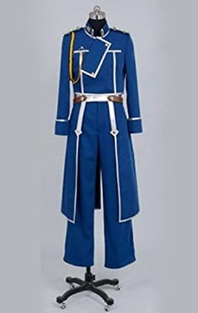 FullMetal Alchemist Roy Mustang Cosplay Uniform Costume.Female size