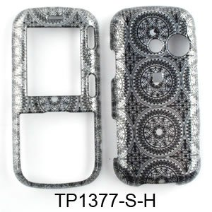 Cell Phone Case Cover For Lg Rumor 2 Ii / Cosmos 1 Lx265 Vn250 Trans Gray Circular Patterns