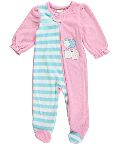 Absorba Baby-Girls Newborn Sheep Blanket Sleeper, Pink, 3-6 Months front-654930