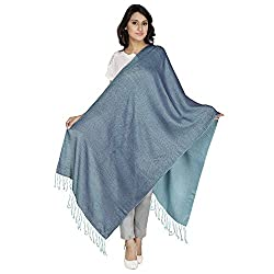 Anekaant Viscose Reversible Women's Shawl (Blue)