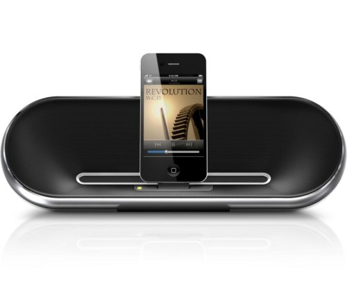 Philips Fidelio Docking speaker DS7550 - Portable speakers with digital player dock for iPod - 10 Watt (Total)