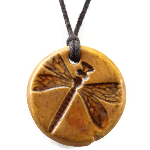caramel-brown-dragonfly-ceramic-essential-oil-diffuser-pendant-aromatherapy-diffuser-necklace