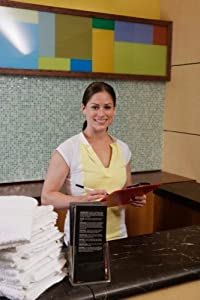 """Gym employee at front desk - 20"""" x 30"""""""