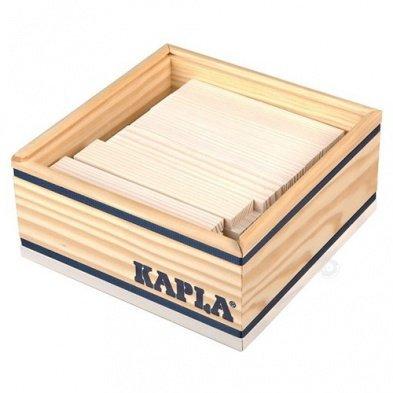 KAPLA C40 NR Holzplättchen, 40 Steine, schwarz