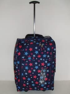 Navy Star Design Borderline 2 Wheeled Super Lightweight Hand Luggage Holdall Cabin Bag Suitable For Easy Jet Jet2 Ryanair Monarch First Choice British Airways Thompson by Borderline