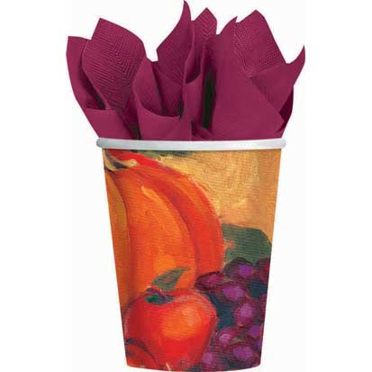 Harvest Still Life Paper Cups 8ct
