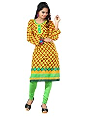 Arista Designer Ready To Wear Yellow Kurti Size - 38 (KR82)