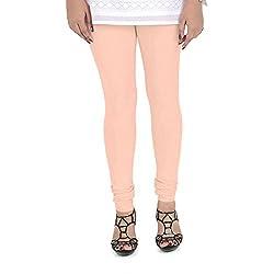 Vami Cotton Churidaar Leggings for Women in Soft Peach