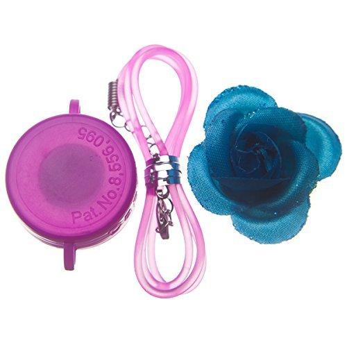 Capstyle Bottle Cap Necklace, Magnet and Jewelry for Decoration - Pink Capstyle and Blue Flower Starter Set Elegance I