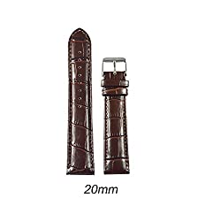 Like 20 mm Croco Leather Padded Watch Strap (Brown)