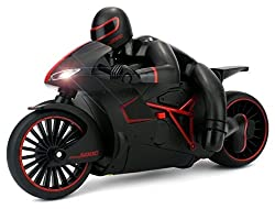 The Flyer's Bay High Speed Professional RC Motorcycle 2.4 GHz Bike with Built in Gyroscope & Bright LED Headlights ( Best Operated in Larger Area) (Red)
