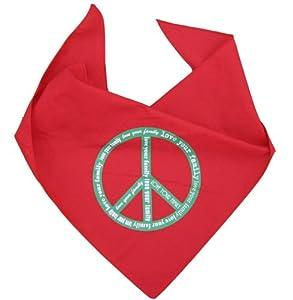 Love Your Family Peace Sign Red Traingle Dog Bandana