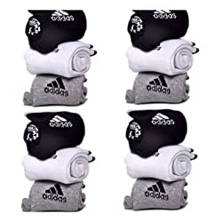 Delhi Traderss Pack Of 12 Pairs Socks With Adidas Logo Sports Ankle Length Cotton Towel Socks