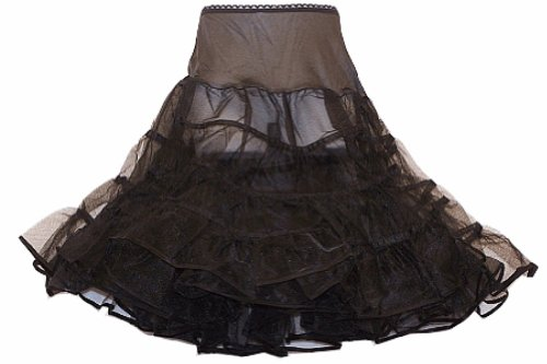 Hip Hop 50S Shop Girls Crinoline Petticoat Slip - Medium Child Black