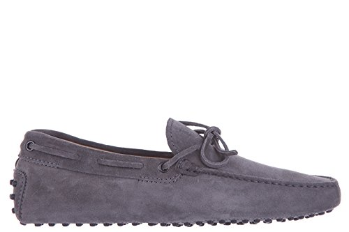 tods-mens-suede-loafers-moccasins-laccetto-gommini-122-grey-us-size-85-xxm0gw05470re0b401