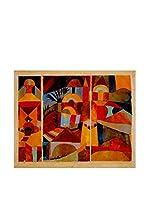 Especial Arte Lienzo Giardini del tempio - Klee Paul Multicolor