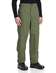 TRU-SPEC Men\'s Polyester Cotton Rip Stop BDU Pant, Olive Drab, Large