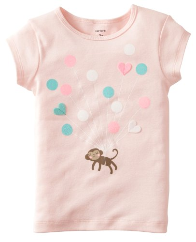 Carter'S Baby Girls' Tee (Baby) - Monkey - 12 Months
