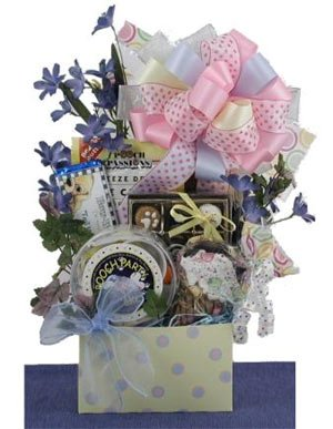 Posh Party Pooch Dog NEW YEARS Gift Basket