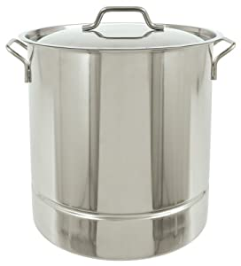 Bayou Classic 1308 Stainless Tri-Ply Stockpot with Vented Lid, 8-Gallon by Bayou Classic