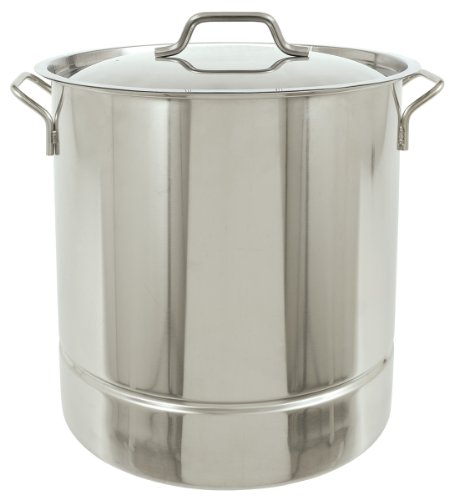 Bayou Classic 1316 Stainless Tri-Ply Stockpot with Vented Lid, 16-Gallon