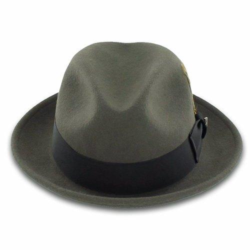 9d3bbf03a188aa Belfry Bogart 100% Wool Men's Dress Fedora in Gray (M) | Hat Outlet Sale