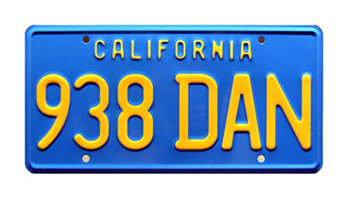 Dirty Mary, Crazy Larry / Peter Fonda's 1969 Charger / 938 DAN *METAL STAMPED* Vanity Prop License Plate (Dirty License Plate Frame compare prices)