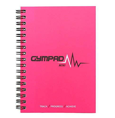 GymPad Mini Workout Journal - The Small Stylish Way To Track Your Workouts (Hot Pink)