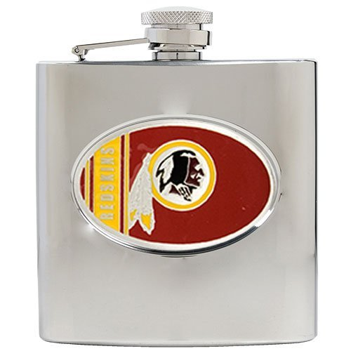 Nfl Washington Redskins 6Oz Stainless Steel Hip Flask