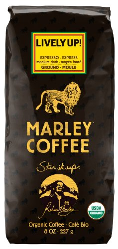 Marley Coffee, Organic Lively Up! Espresso Ground Coffee, 8 Ounce (Coffee Beans Whole Foods compare prices)