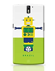 PosterGuy OnePlus One Case Cover - Robot Foosball Brazil Sports, Football, Robot, Play, Game, Brazil, Foosball, Neymar,