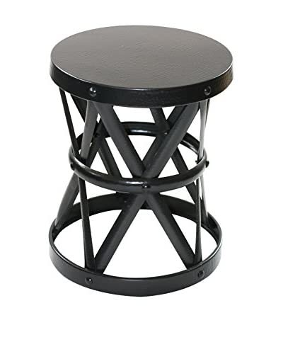 filling spaces Medium Finished Side Stool, Black