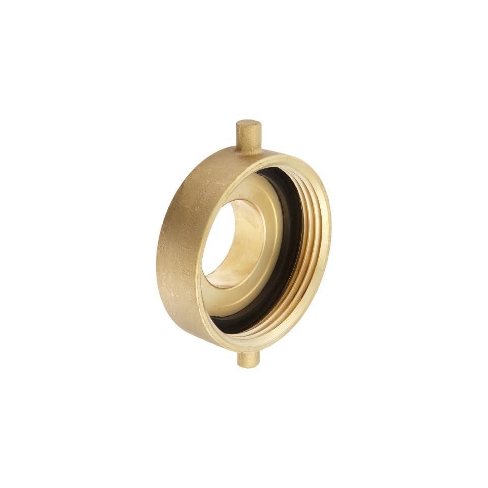 Moon 369 4022521 Brass Fire Hose Adapter, Pin Lug, 4 NH Female x 2 1/2 NH Male