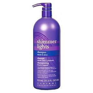 CLAIROL (Blue) Shimmer Lights Shampoo 32 oz. - purple shampoo