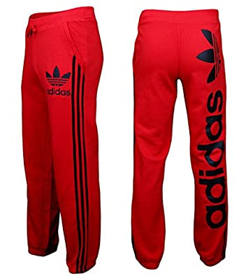 adidas red tracksuit bottoms