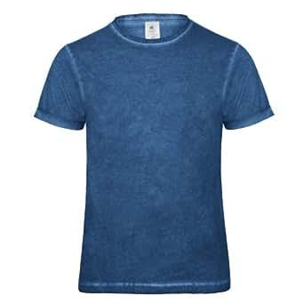 B&C Denim Plug In - T-shirt 100% coton - Homme (S) (Bleu)