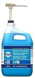 Dawn Ultra, Professional Dish Detergent Liquid - Plus 2 Scrub sponges - Cuts Tough Grease - Original Scent - Blue, - With Pump Dispenser - (128 FL oz.) 1 Gal