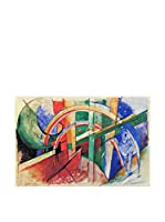 Especial Arte Lienzo Cavallo blu con arcobaleno - Mark Franz Multicolor