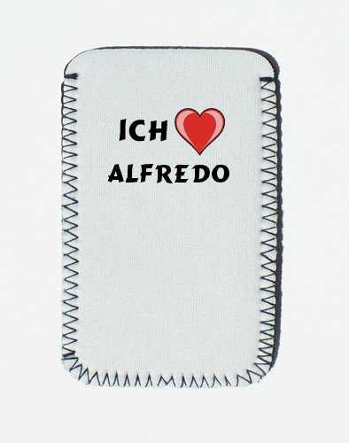 iPhone Case mit Ich liebe Alfredo - Individualer iPhone Halter (Vorname/Zuname/Spitzname)