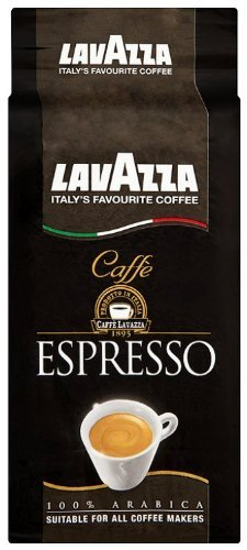 Lavazza Caffe Espresso Coffee - 100% arabica, Suitable for all coffee makers - 8.8 oz (Pack of 4)